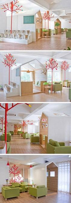Delightful Modern Kids Cafe Interior Idea 30