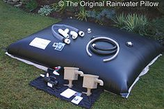 The Original Rainwater Pillow Kit ~ A Complete Rainwater Harvesting System.      The Original Rainwater Pillow is a innovative rainwater harvesting system designed to be stored in horizontal wasted space. Custom pillow sizes and footprints up to 200,000 gallons. Complete kit includes filters, pumps, pillow and all fittings for both potable and non-potable applications. Residential and Commercial systems.    www.rainwaterpillow.com