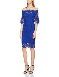 Little Mistress Women's Crochet Trim Lace Dress