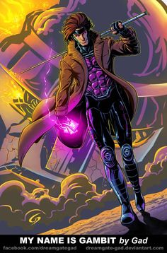 My name is Gambit by Gad by Dreamgate-Gad on DeviantArt Gambit Marvel, Gambit X Men, Rogue Gambit, Marvel Art, Xmen, Marvel Comics, Gambit Wallpaper, Marvel Wallpaper, Gambit Cosplay