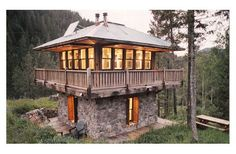 Lookout Tower Plan 547-1 by Prairie Wind Architecture