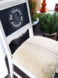 Lake Girl Paints: Chalkboard and Coffee Chair Design