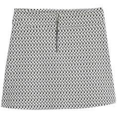 Mango Geometric Patterned Cotton Skirt, Black (300 MXN) ❤ liked on Polyvore featuring skirts, mini skirts, cotton skirt, patterned skirt, a line mini skirt, floral print a-line skirt and stretch mini skirt