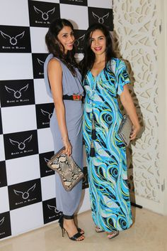 Namrata Shroff & friend at bare in Black Launch.