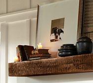 Benchwright Shelf for fireplace, $299, Pottery Barn