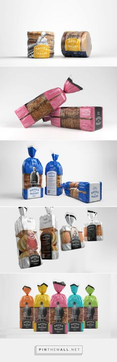 Davies Bakery on Packaging of the World - Creative Package Design Gallery. - a grouped images picture Bread Packaging, Bakery Packaging, Packaging Design, Product Packaging, Packaging Ideas, Gluten Free Brands, Bread And Company, Baker Logo, Bakery Logo Design