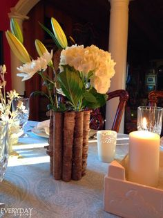 winter tablescape shared at Katherines Corner