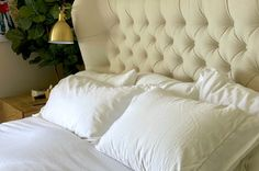 Bedding 101: How To Wash White Sheets Without Bleach   Hip2Save Cleaning White Sheets, Washing Soda, White Duvet, Distilled White Vinegar, Diy Cleaners, Duvet Sets, Lifehacks, Bed Sheets, Whitening