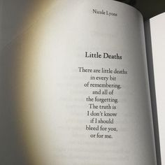Little Deaths - Nicole Lyons - #Hush