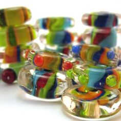 Striped Discs - Lampwork Tutorial by Chestnut Ridge Designs