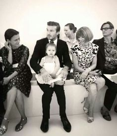 Harper Beckham and Anna Wintour. LOVE this photo ❤