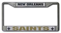 NFL New Orleans Saints Chrome Licensed Plate Frame by Rico. $12.30. NFL New Orleans Saints Chrome Frame