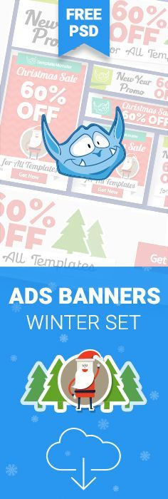 Get FREE New Year & Christmas Ads Banners http://www.templatemonster.com/blog/free-adwords-banners-pack-xmas-new-year-edition/?utm_source=pinterest&utm_medium=tm&utm_campaign=chrads #xmas #sale