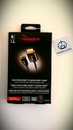 4ft rocketfish High Speed HDMI to Micro HDMI cable SOLD! Was available at Gadgets & Gold in Gainesville, FL!