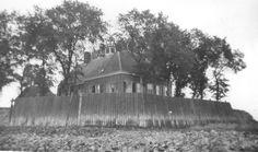 Het oude kerkje met zeewering op Schokland, 1942 Fotocollectie Nieuw Land; T.H. Nieuwburg