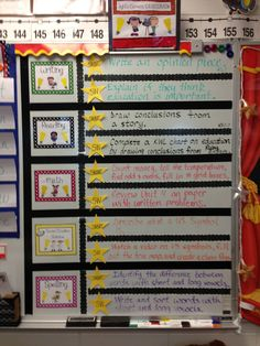 love the splitting of each subject- this will work awesome for my Content Objectives and Language Objectives Posting Objectives, Objectives Board, Student Learning Objectives, Displaying Objectives, Learning Objectives Display, Daily Objectives, 2nd Grade Classroom, Kindergarten Classroom, School Classroom