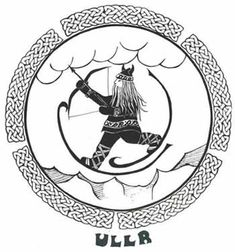 """ullr In Norse mythology, Ull (or Ullr or Uller) is the son of Sif, and the stepson of Thor. People think he was the god of Winter, of hunting, of hand-to-hand combat, and of the willow tree. He is married to Skadi, the goddess of winter, and the ex-wife of Njord. His name means """"glory"""". He was said to be a great archer and skier who left blazing trails across the sky."""
