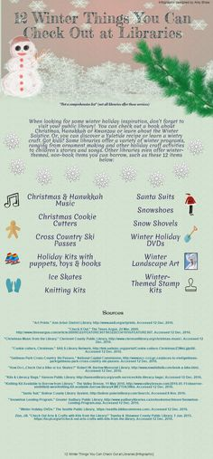 Library Winter Things Infographic Mobile Library, Winter Things, Winter Solstice, Winter Holidays, Libraries, The Borrowers, Infographic, Learning, My Love