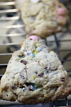 Cadbury mini eggs for breakfast?  (Well...I do that anyway, but why not mask them in a scone?) :)