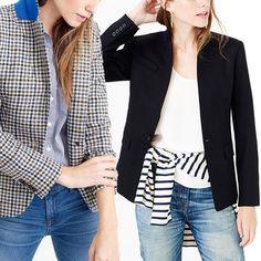 Rank & Style - J. Crew Regent and Campbell Blazers #rankandstyle