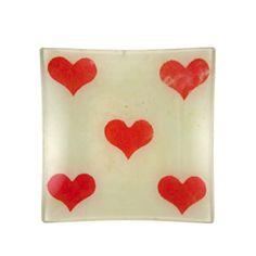 John Derian 5 of Hearts Un Vide Poche Plate