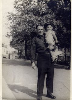 Constable Arthur Birtch and his daughter Christine1944 Kingston, Ontario