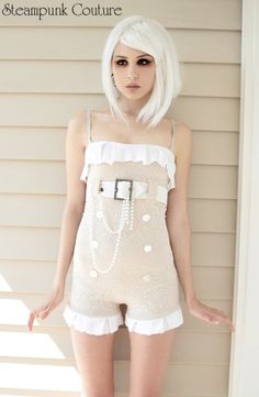 Sweet Pea playsuit, Steampunk Couture