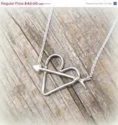Arrow thru Heart Sterling Silver Valentine by YouCanQuoteMeOnThat, $37.80