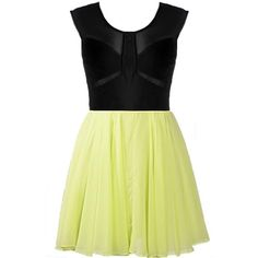 Lime Exhibition Dress ($120) ❤ liked on Polyvore featuring dresses, vestidos, short dresses, ruched dress, lime yellow dress, yellow dress, lime green mini dress and mini dress