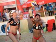 Kerri Walsh (left) and April Ross has their eyes fixed on Rio 2016