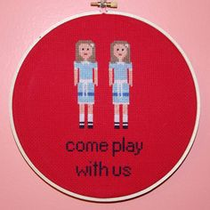 Hey, I found this really awesome Etsy listing at https://www.etsy.com/listing/237972389/the-shining-twins-8-cross-stitch-hoop