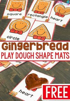Gingerbread play dough mats for shapes! A great play dough activity for your Christmas theme. Kids love creating the shapes with play dough to match the shapes on the mats. Gingerbread Man Activities, Gingerbread Crafts, Christmas Activities For Kids, Gingerbread Men, Gingerbread Man Kindergarten, Winter Activities, Christmas Ideas, Christmas Crafts, Montessori Sensorial