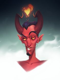 devil, Sasha Tudvaseva on ArtStation at https://www.artstation.com/artwork/KPbbx