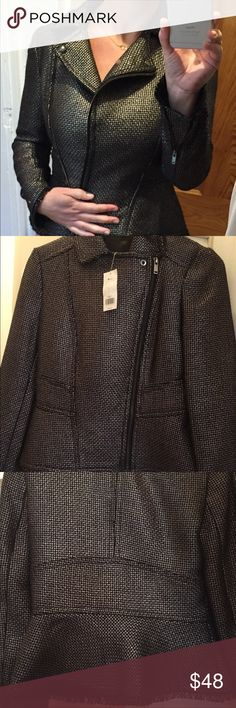Beautiful Metallic moto jacket Beautiful Metallic moto jacket Banana Republic Jackets & Coats