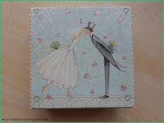Mój świat kolorów...: Ślubne pudełko...