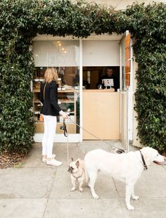 Erin of Apt34 enjoying the wee Marla Bakery in SF. (This is my DREAM!)