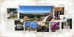 Hearst Castle #pacificcoastline #sidebysidetemplate #designerdigitals #digitalscrapbookpages
