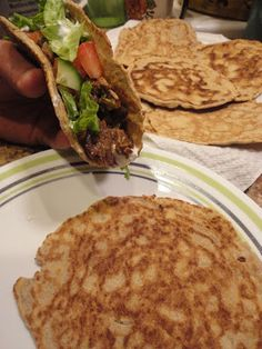 "The Low Carb Review: Tortillas! (Maria's) // 1 1/4 cup blanched almond flour (or 3/4 cup coconut flour) 5 TBS psyllium husk powder 1 tsp Celtic sea salt 2 eggs (4 if using coconut flour) 1 cup water (or Marinara - for ""tomato basil"" flavor)"