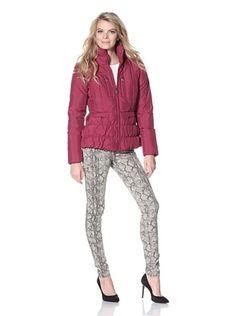 Betsey Johnson Women's Zip Front Puffer Jacket