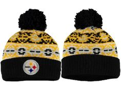 2017 Winter NFL Fashion Beanie Sports Fans Knit hat Pittsburgh Steelers Hats a13851c4de8f