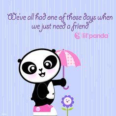 Panda friend #lilpanda #panda #Kawaii www.lilpanda.com