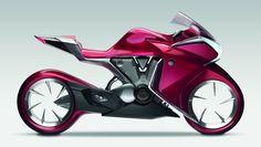 Honda V4 concept motorcycle. Pink!