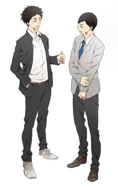 Akaashi & Ennoshita | Haikyuu!! Akaashi is happy he can talk to someone normal but beautiful