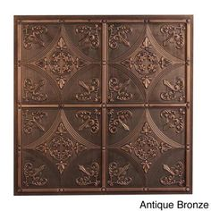 @Overstock.com - Cathedral Ceiling Tile (Pack of 10) - Bring the look of a vintage ceiling into your home with these decorative ceiling tiles. Constructed from poly-vinyl, these durable tiles have the look of a delicate antique ceiling. Available in three finishes, these tiles add charm to your home.  http://www.overstock.com/Home-Garden/Cathedral-Ceiling-Tile-Pack-of-10/8164079/product.html?CID=214117 $60.99