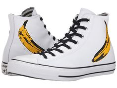 Wonder if Doctor 10 would approve.  Always take a banana to a party.....Why not wear them?  Converse Chuck Taylor® All Star® Hi - Andy Warhol White/Black/Freesia - Zappos.com Free Shipping BOTH Ways
