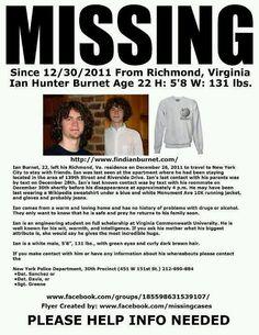 Ian Hunter, age 22, from Richmond VA