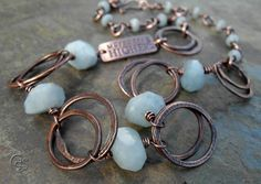 Aquamarine Gemstone Necklace Inspirational by ArtandSoulJewelry, $73.00