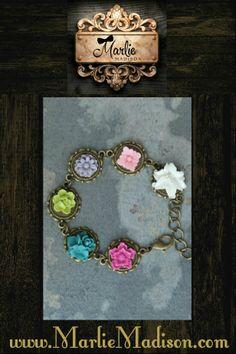 Spring Flower Bracelet  http://www.marliemadison.com/accessories/jewelry/spring-flower-bracelet