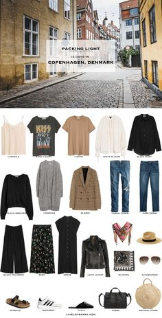 What to Pack for Copenhagen, Denmark - livelovesara : What to Pack for Copenhagen, Denmark Packing Light List Europe Travel Outfits, Travel Wear, Travel Outfit Summer, Travel Wardrobe, Travel Style, Travel Fashion, Mode Outfits, Fashion Outfits, Fashion Advice