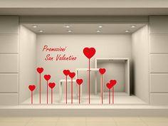 Sticker adesivo vetrofanie PROMOZIONI SAN VALENTINO. Design vetrine negozio • EUR 25,00